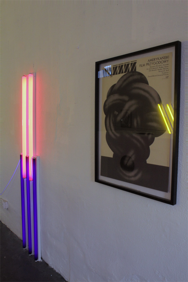 """Scott Benzel, The Academy/The Chthonic at Eleusis"" at Public Fiction, installation view, 2012"""