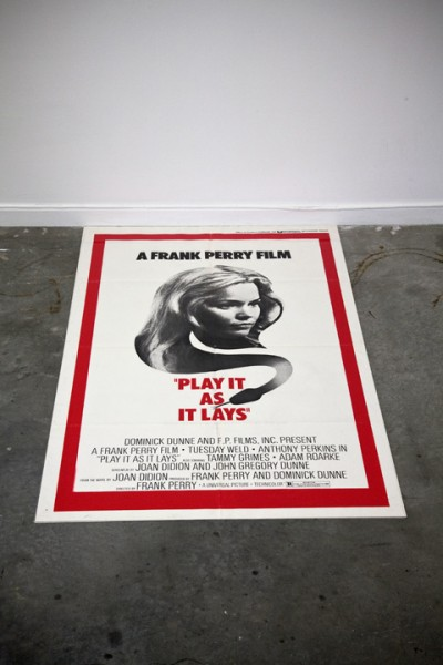 Play it as it Lays (Death Valley Flag), film poster, plexiglas, 2011